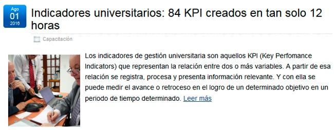 BSC: Indicadores Universitarios